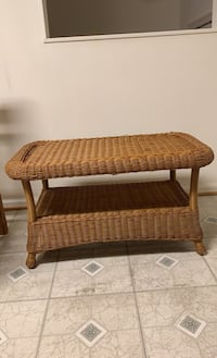 Coffee/Side Wicker Table