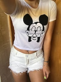 Brand New Mickey Mouse Crop Top Burnaby
