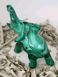 Beautiful Hand Carved Malachite Elephant Pembroke Pines, 33027