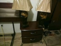 two brown table lamps Saint Martinville, 70582