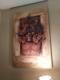 brown wooden framed painting of flowers Memphis, 38119