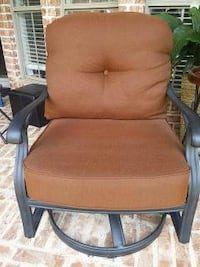 2 Outdoor Patio Swivel Gliders with Seat and Back  North Richland Hills