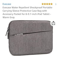 New and unused.. Evecase Protective Case Bag for 8-9.7 Ipad Tablet