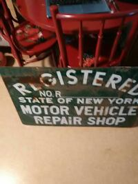 Ny state repair shop sign, 1970's Winchester, 22602