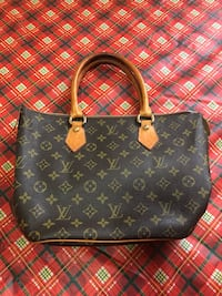 monogrammed brown Louis Vuitton leather tote bag San Jose, 95136