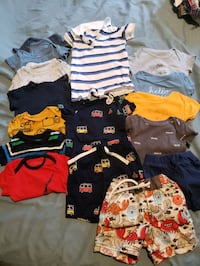 Short sleeve onesies -lot 3 to 6 mos Toronto, M1T 3N3