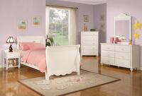 Twin 6pc White Solid Wood Sleigh bedroom set Charlotte, 28216