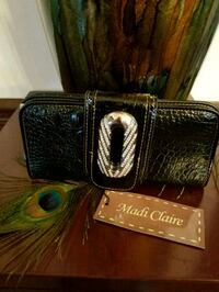 Madi Claire Black Leather Wallet With Bling!   New With Tags!!! Omaha, 68105