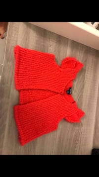Top en tricot rouge fille