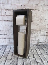 NEW Kona Stain   Wood Toilet Roll Holder Mission