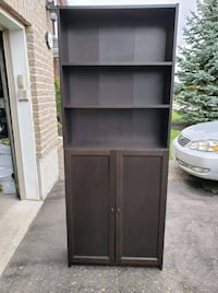 Ikea Billy/Oxberg Bookcases with Doors Black Brown Orleans, K4A