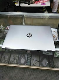 gray HP laptop