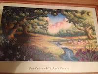 Winnie the Pooh and friends picnic framed art Arden, 28704