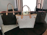 white and black Louis Vuitton leather tote bag Hialeah, 33018