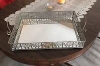 Metal tray for a bedroom dresser or table. Calgary, T2C 3N3