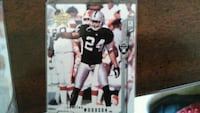 autographed football player trading card