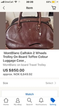 MontBlanc calf toffee brown cabin luggage. 2 wheels , light weight .