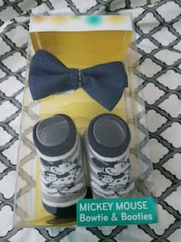 Disney baby stocks & bow tie