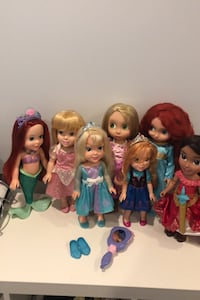Disney princess 7 dolls very good ! Free pet free smoke house  Vienna, 22182