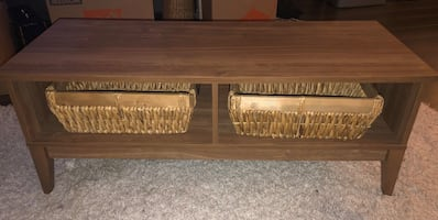 Coffee Table with 2 Storage Bins