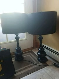 Matching Black Lamps Leominster