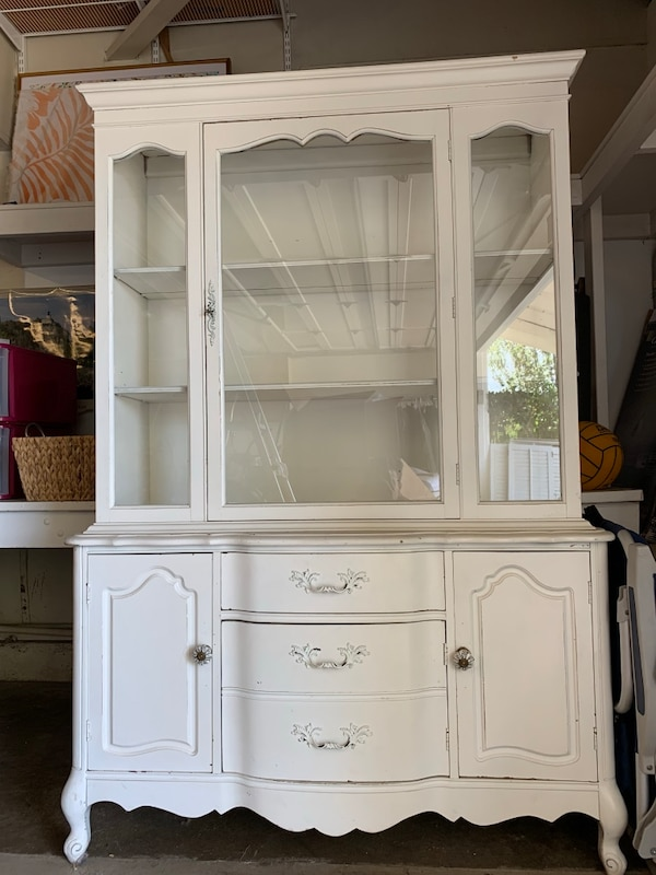 Shabby Chic China Cabinet White