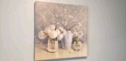 Canvas flower print.