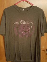 gray and purple graphic printed crew-neck t-shirt 1068 mi