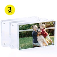 4 Pcs Magnetic Acrylic Picture Frames With Rounded Chicago, 60630