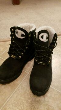 black Champion leather work boots Morinville, T8R 0A3