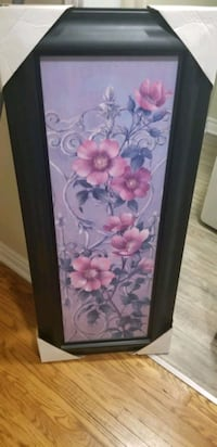 New floral painting in wooden frame  Pickering, L1W 1Y3