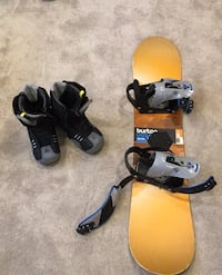 Burton snowboard 120 and Firefly size 7 boots, youth  North Vancouver, V7R