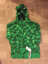 Minecraft Creeper Sweatshirt with creeper mouth and eyes - Youth XL Woodbridge, 22191
