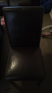 Black leather padded chair Las Cruces, 88005
