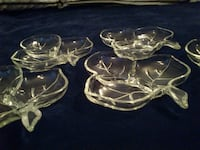 Vintage Hazel Atlas Glass Leaf Dish  West Springfield