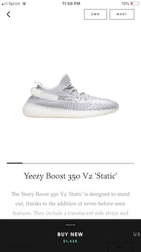 Yeezy Boost 350 Static Reflective Oxon Hill, 20745