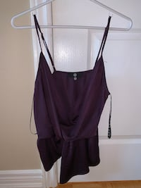 Missguided purple satin top Vaughan, L4J 9B3