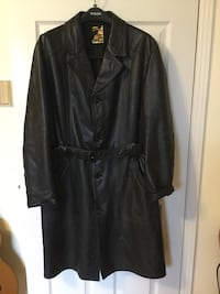 Leather coat good for Halloween KGB Costume size XL Vaughan, L6A 1M9