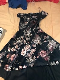 black and white floral scoop-neck dress Concord, 28025