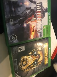 two Xbox One game cases Toronto, M9W 5T1