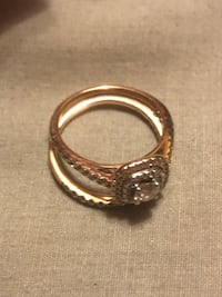 Rose gold wedding band and engagement ring Douglasville, 30135