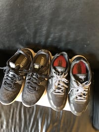 two pairs of running shoes