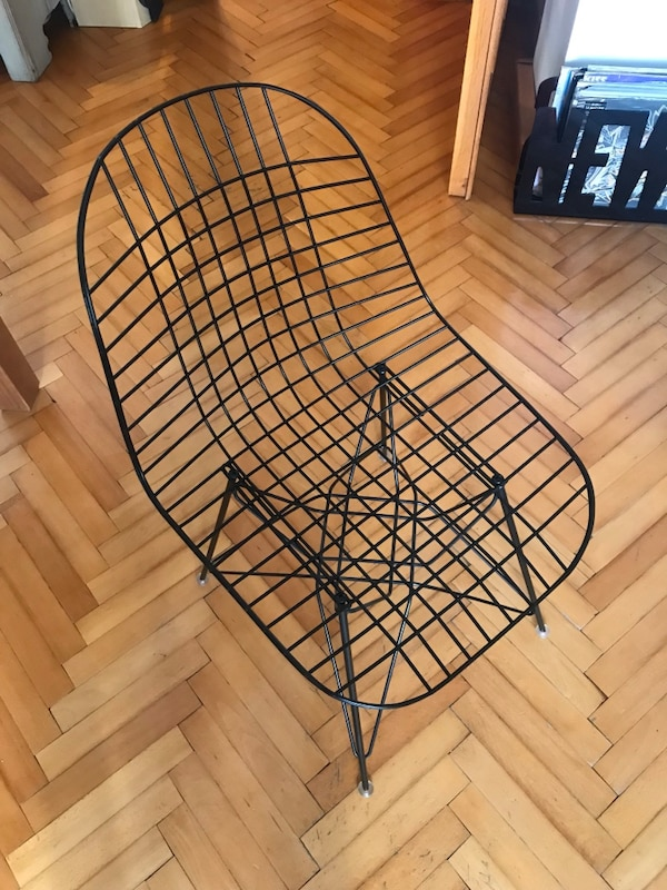 6 adet vitra wire chair 2