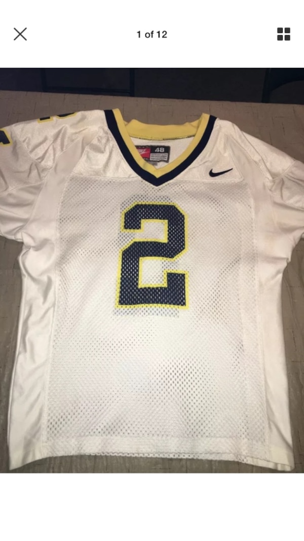 hot sale online befb3 ca690 Authentic Nike University Of Michigan Charles Woodson Jersey Size 48 White  Rare