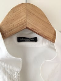 White massimo dutii perfect fit shirt size 38 Kolsås, 1352