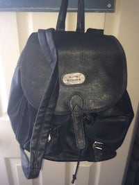 black leather knapsack Paramus, 07652