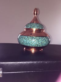 Persian turquoise copper sugar bowl Montgomery Village, 20886
