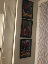 3 Spider-Man wall decor pics