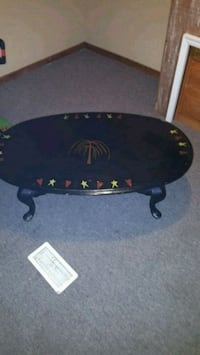 Coffee table home made painted with bar stool glas Bloomington, 47403
