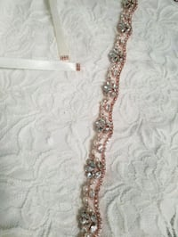 NEW: Rose gold crystal beaded bridal belt Toronto, M9W 6T3